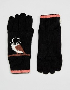 Перчатки с совами Yumi - Черный