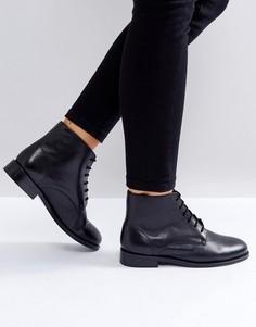 Кожаные ботинки на шнуровке Park Lane - Черный