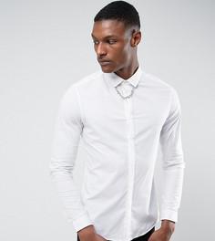 Рубашка узкого кроя с цепочкой ASOS TALL - Белый