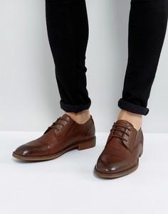 Коричневые кожаные туфли Steve Madden Qhamtim - Рыжий