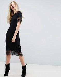 Платье с кружевной отделкой Brave Soul Elina - Черный
