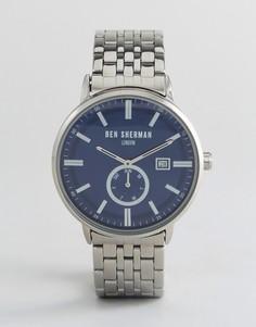 Серебристые наручные часы Ben Sherman WB071USM - Серебряный