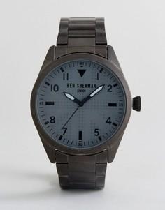 Часы темно-серого цвета Ben Sherman WB074BM - Серебряный