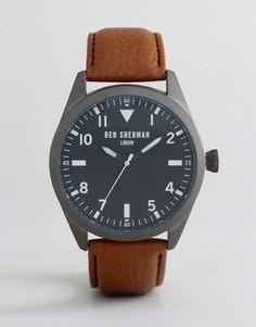 Часы с коричневым кожаным ремешком Ben Sherman WB074BR - Рыжий