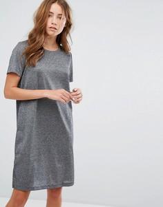 Платье-футболка с эффектом металлик Vila - Серый