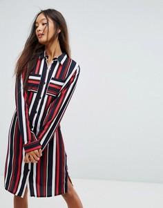Платье-рубашка в полоску Vila - Мульти