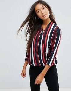 Блузка в полоску с запахом Vila - Мульти