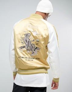 Бежевая куртка с вышивкой Puma эксклюзивно для ASOS - Зеленый