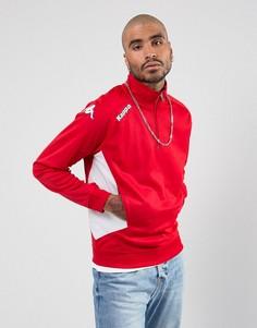 Спортивный свитшот на молнии Kappa Foligno - Красный