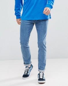 Выбеленные суженные книзу джинсы в стиле ретро Wrangler Peter Max - Синий