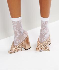 Кружевные носки ASOS - Белый