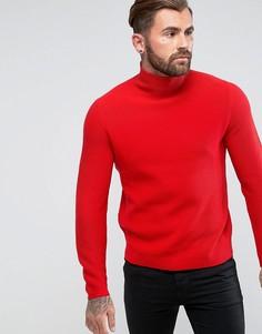 Красный джемпер крупной вязки с высоким воротом PS by Paul Smith - Красный