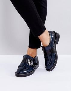 Кожаные туфли на плоской подошве ASOS MASTER PIECE Premium - Черный
