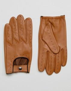 Светло-коричневые автомобильные перчатки Barneys - Рыжий Barneys Originals