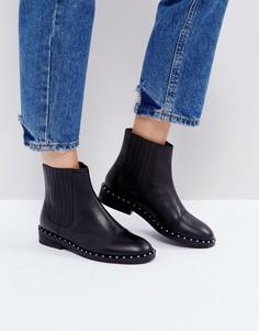 Кожаные ботинки челси ASOS ALISTAR - Черный