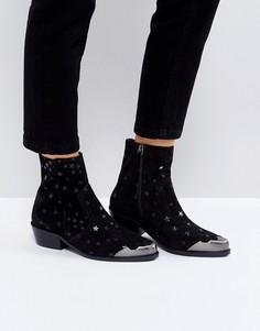 Замшевые ботинки ASOS AMMA - Черный