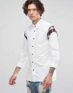 Рубашка со вставками на плечах Dr Martens - Белый