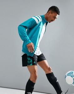 Зеленая спортивная куртка с принтом в стиле 90-х adidas Football Training AZ9710 - Зеленый