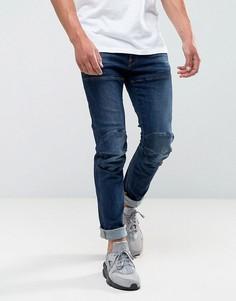 Узкие темные джинсы G-Star 5621 3D - Синий
