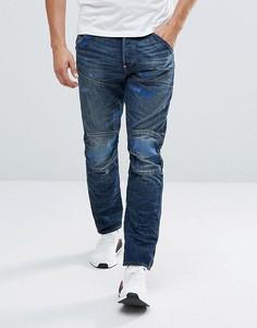 Суженные книзу темные джинсы G-Star 5620 3D Antic - Синий