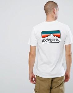 Белая футболка с логотипом Patagonia - Белый