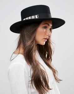 Шляпа с заклепками Vixen - Черный
