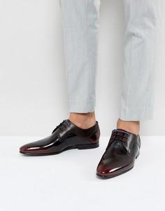 Красные блестящие туфли дерби Ted Baker - Красный