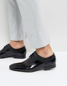 Черные блестящие туфли дерби Ted Baker - Черный