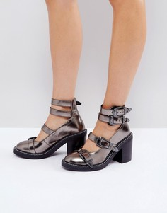 Туфли на каблуке с пряжками ASOS OH GOSH - Серебряный