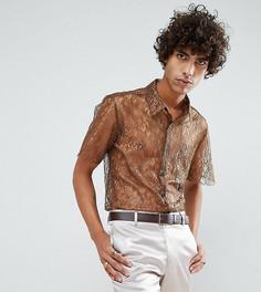 Кружевная рубашка классического кроя Reclaimed Vintage Inspired - Коричневый