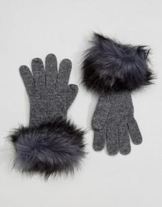 Перчатки с декоративной строчкой Alice Hannah - Серый