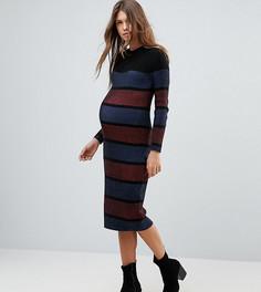 Трикотажное платье в полоску ASOS Maternity - Мульти