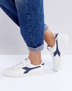 Бело-синие кроссовки Diadora Game - Белый