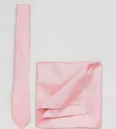 Светло-розовый галстук и платок для пиджака ASOS PLUS - Розовый
