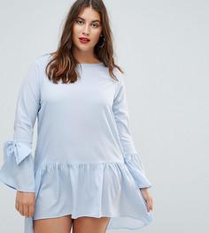 Платье с бантами на манжетах AX Paris Plus - Синий