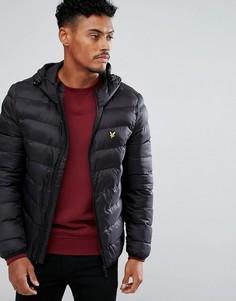 Черная легкая дутая куртка Lyle & Scott - Черный
