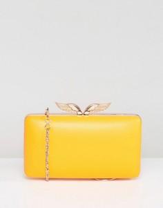 Клатч на каркасе со съемным ремешком ASOS - Желтый