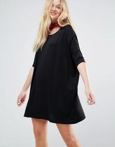 Oversize-платье с круглым вырезом Monki - Черный