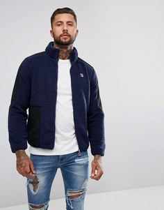 Флисовая куртка с логотипом Fila Vintage - Синий