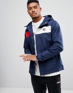 Куртка с капюшоном и контрастной вставкой Fila Vintage - Темно-синий