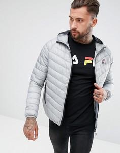Дутая куртка с капюшоном Fila Vintage - Серый