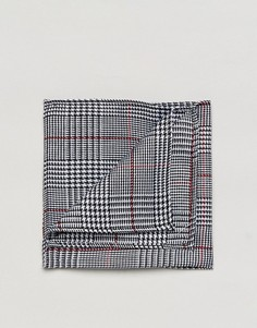 Платок для пиджака в клетку принц Уэльский ASOS - Черный
