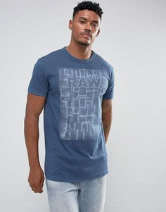 Свободная футболка G-Star Maeevor - Синий