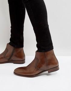 Коричневые кожаные ботинки челси Red Tape - Коричневый