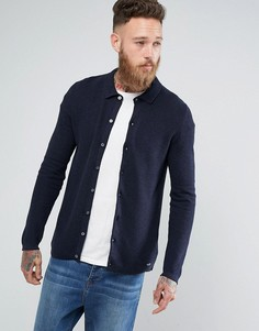 Трикотажный кардиган-рубашка Threadbare - Темно-синий
