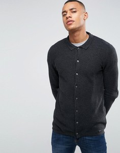 Трикотажный кардиган-рубашка Threadbare - Серый