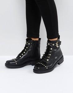 Кожаные ботинки на шнуровке Carvela Son - Черный
