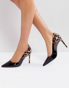 Туфли-лодочки с леопардовым принтом Carvela - Черный