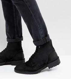 Кожаные ботинки на шнуровке Diesel Pitt - Черный