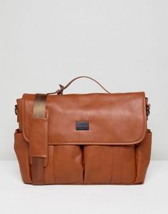 Светло-коричневая сумка почтальона Peter Werth - Рыжий